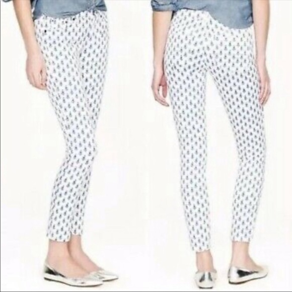 J. Crew Jeans Toothpick Tulip Jeans 28 Ankle